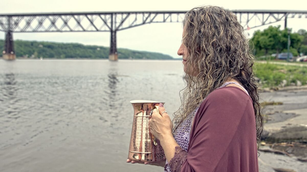 Water Ceremony on the Hudson River with Dreaming Goddess in Poughkeepsie, NY