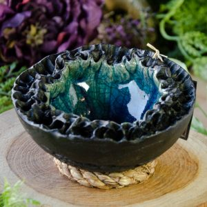 Medium Raku Crater Bowl at DreamingGoddess.com