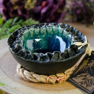 Small Raku Crater Bowl at DreamingGoddess.com