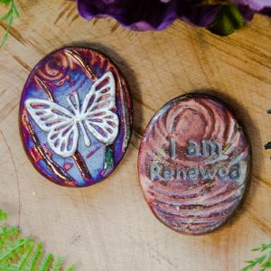 Butterfly Raku Spirit Medallion at DreamingGoddess.com