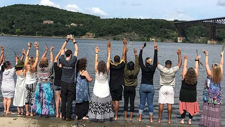Water Ceremony on the Hudson River with Dreaming Goddess