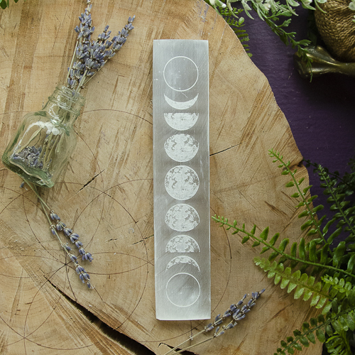 Selenite Moon Phase Charger at the Dreaming Goddess