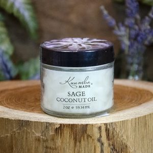 Jar of Sage infused Coconut oil
