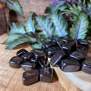 Bring new energy to your divination, magic, and meditation practices with runes. Discover the unique power of these sacred runic symbols—the magical language of the northern gods. Carved into Hematite, these exquisite runes are magical as well as beautiful.