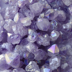 Amethyst Mini Points ~ Titanium Aura at DreamingGoddess.com