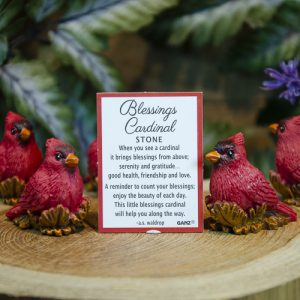 Blessings Cardinal Stone Charm at DreamingGoddess.com