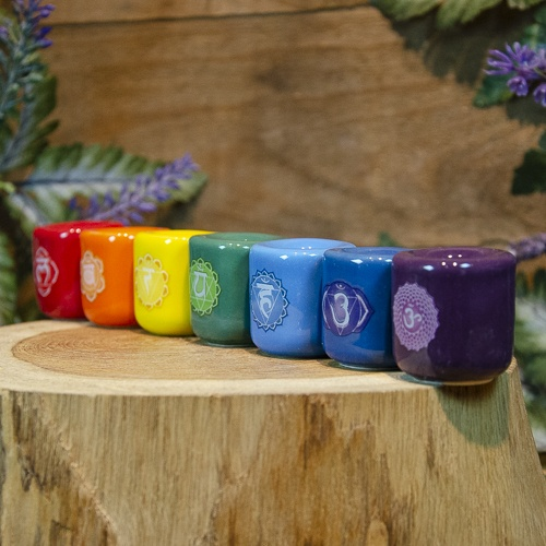 Chakra Chime Candle Holders at the Dreaming Goddess