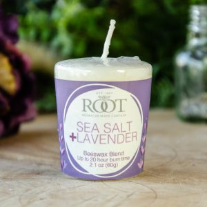 Root Votive ~ Sea Salt and Lavender at DreamingGoddess.com