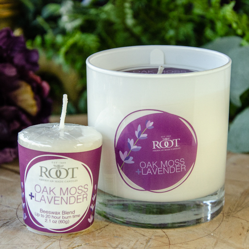 Root 8oz Candle ~ Oak Moss and Lavender