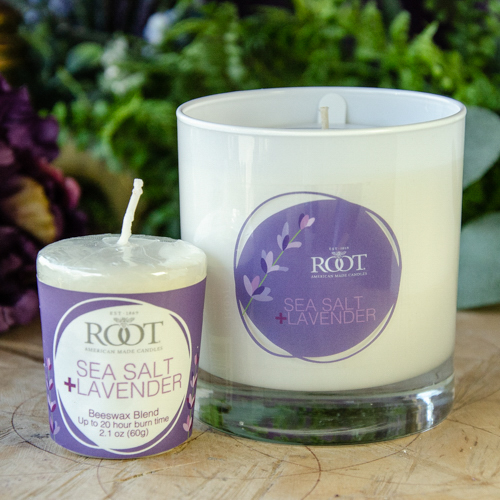 Root 8oz Candle ~ Sea Salt and Lavender