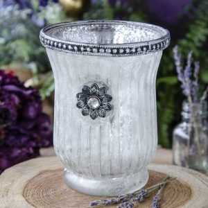 Silver Rimmed Votive Candle Holder at DreamingGoddess.com