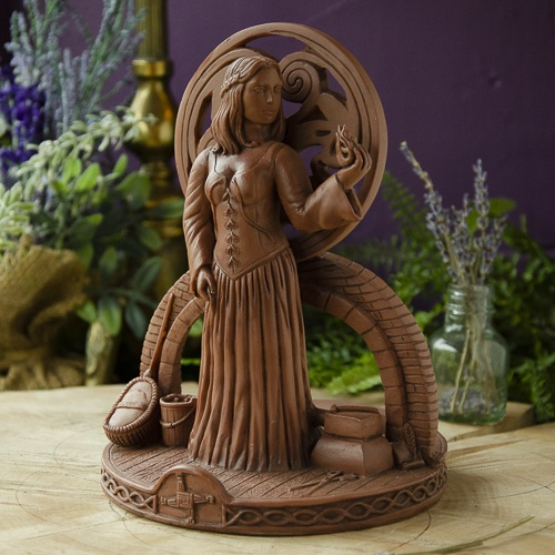 Brigid Candle Holder at the Dreaming Goddess