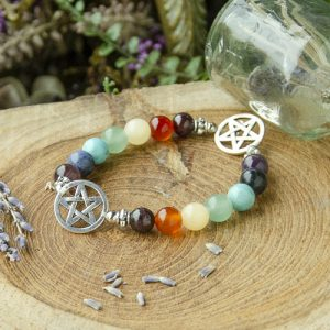 Chakra Bracelet ~ Pentacle at DreamingGoddess.com