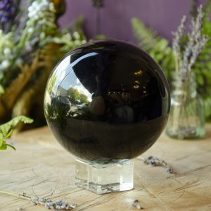 Obsidian Sphere at the Dreaming Goddess