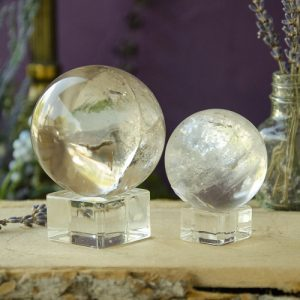 Glass Sphere Stand at the Dreaming Goddess