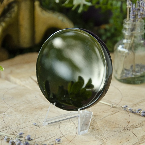 Obsidian Scrying Mirror at the Dreaming Goddess