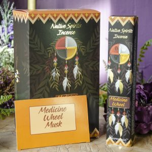 Medicine Wheel Native Spirits Incense at DreamingGoddess.com