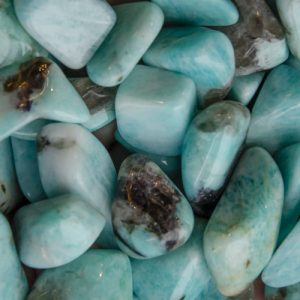 Amazonite with Smoky Quartz at DreamingGoddess.com