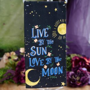 Live By the Sun Love By the Moon Dish Towel at DreamingGoddess.com