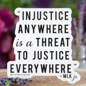 Martin Luther King Jr. Injustice Quote Sticker at DreamingGoddess.com